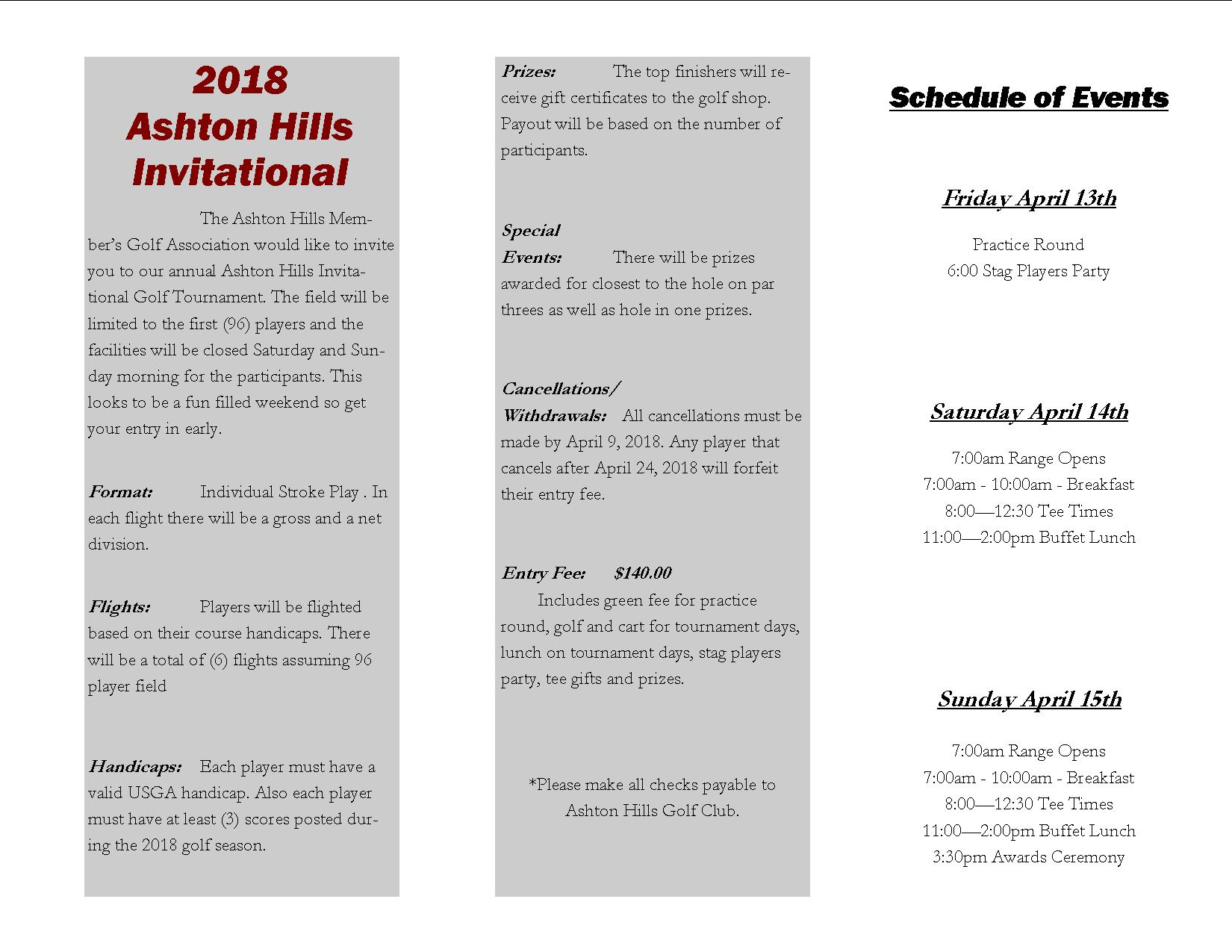 2018 AH Invitational